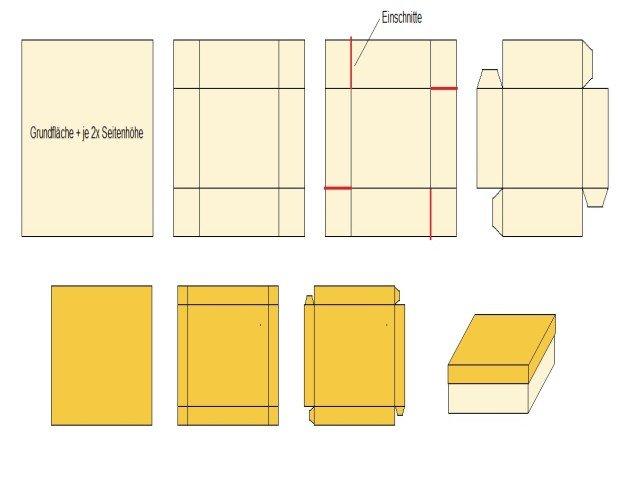 Anleitung Zum Basteln Von Schachteln