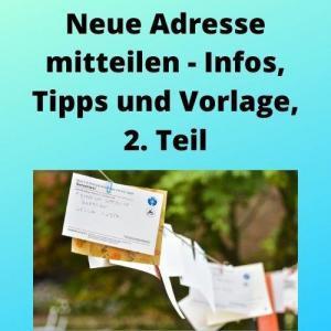 Neue Adresse mitteilen - Infos, Tipps und Vorlage, 2. Teil